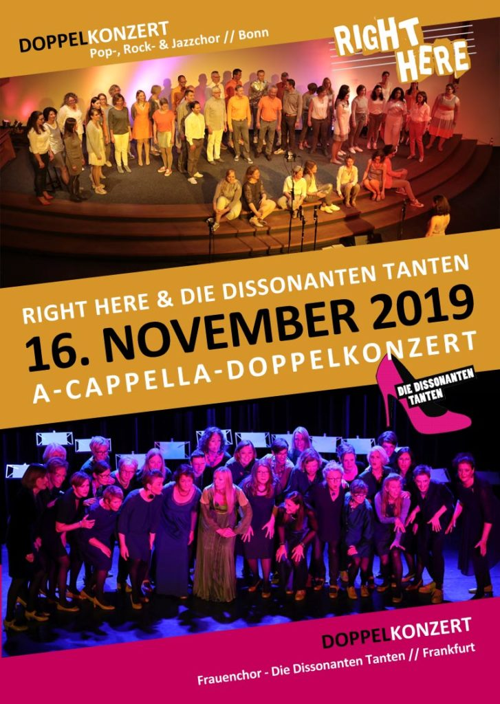 Doppelkonzert mit Right Here + Die Dissonanten Tanten